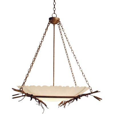 Cattail 6-Light Inverted Pendant Finish: Organic Rust