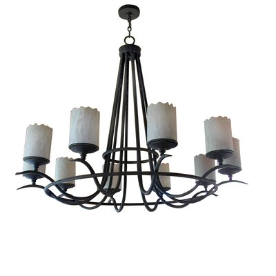 Octavia 10-Light Shaded Chandelier Finish: Blackwash