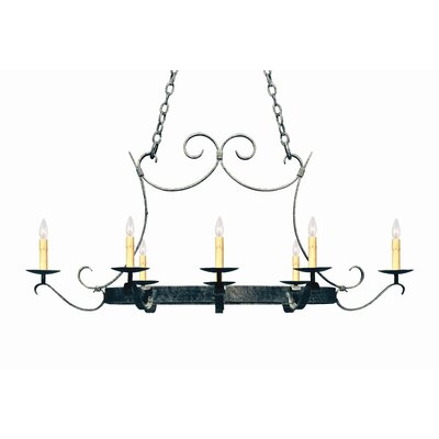Handforged Oval 8-Light Candle-Style Chandelier
