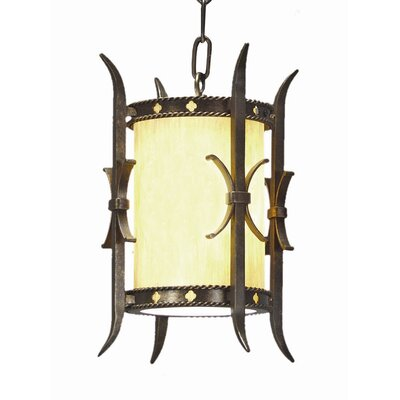 Stanza 1-Light Foyer Lantern Finish: Golden Verde