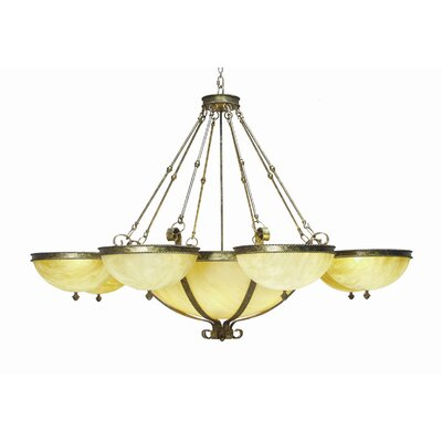 Alonzo 22-Light Shaded Chandelier Finish: Organic Rust