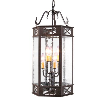 Gina 7-Light Foyer Lantern Finish: Blackwash