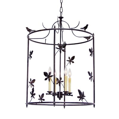 Jillian 4-Light Foyer Lantern Finish: Blackwash