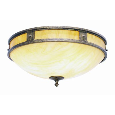 Capella 2-Light Ceiling Mount Finish: Pompeii Gold Premium