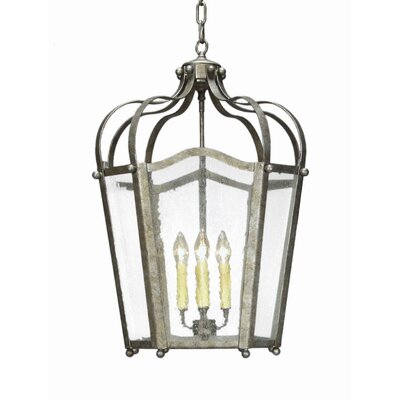 Citadel 4-Light Foyer Lantern Finish: Golden Verde Premium