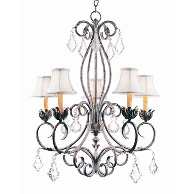 Felicia 5-Light Shaded Chandelier