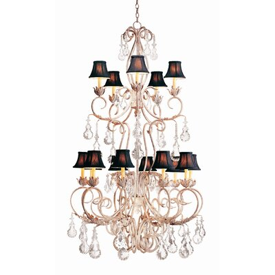 Alexandria 15-Light Crystal Chandelier