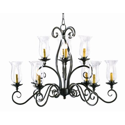 Wallis Oval 10-Light Candle-Style Chandelier