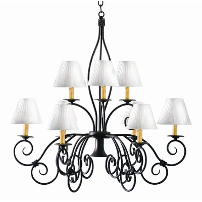 Grace 10-Light Shaded Chandelier