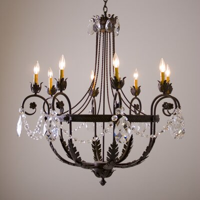 Antonia 8-Light Shaded Chandelier