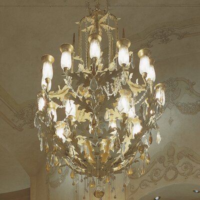 French Baroque 16-Light Crystal Chandelier