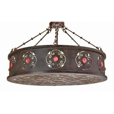 Julianne 6-Light Drum Pendant Finish: Antique Iron Gate