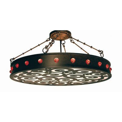 Jules 16-Light Drum Pendant Finish: Organic Rust