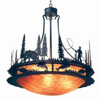 Fisherman 6-Light Inverted Pendant Finish: Antique Iron Gate