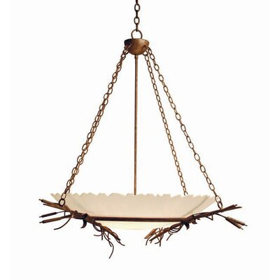 Cattail 6-Light Inverted Pendant Finish: Rustic Iron