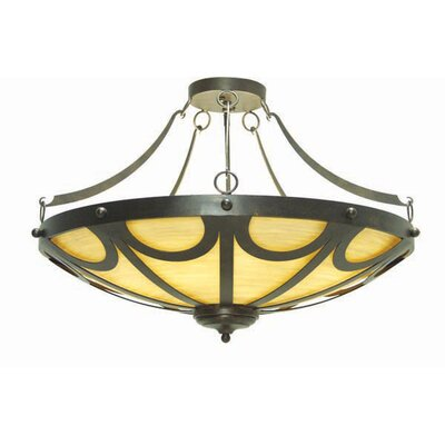 Carousel 12-Light Inverted Pendant Finish: Blackwash