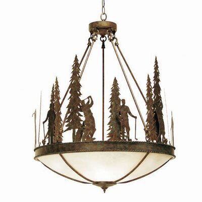 Ironwood 5-Light Inverted Pendant Finish: Organic Rust