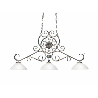 Christabel 3-Light Billiard Light Finish: Rustic Iron