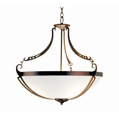 Focus 3-Light Inverted Pendant Finish: Organic Rust