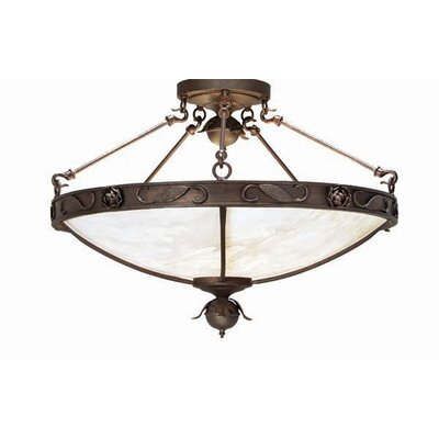 Arabesque 5-Light Inverted Pendant Finish: Organic Rust
