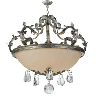 Renaissance 5-Light Inverted Pendant Finish: Blackened Pewter