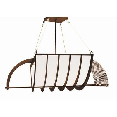 Nalda 4-Light Pendant Finish: Organic Rust
