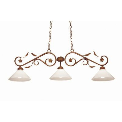 Bordeaux 3-Light Billiard Light Finish: Organic Rust