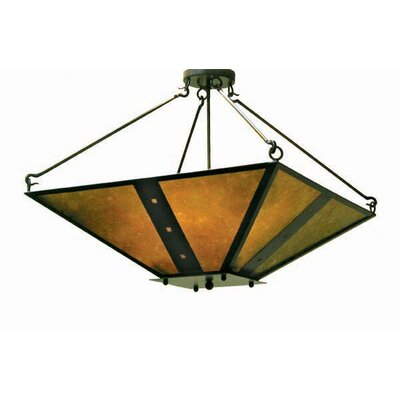 Zandra 4-Light Inverted Pendant Finish: Antique Iron Gate