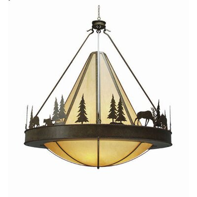 Verado 8-Light Inverted Pendant Finish: Antique Iron Gate