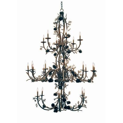 Pinecone 24-Light Candle-Style Chandelier