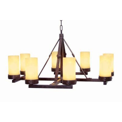 Parker 8-Light Shaded Chandelier Finish: Blackened Pewter