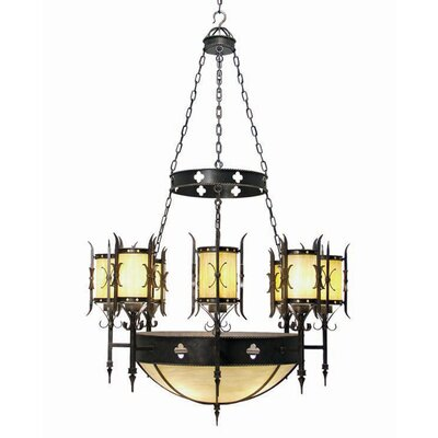 Sabrina 12-Light Shaded Chandelier Finish: Blackened Pewter