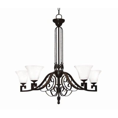 Suri 5-Light Shaded Chandelier Finish: Blackwash