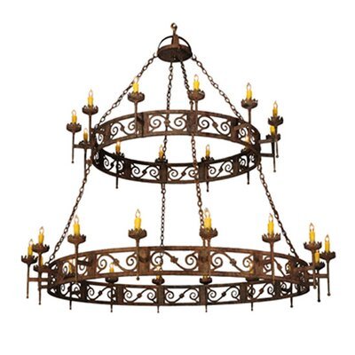 Majella 28-Light Candle-Style Chandelier
