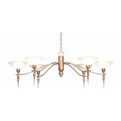 Blanca 6-Light Shaded Chandelier Finish: Rustic Iron