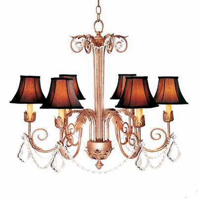 Lindsey 6-Light Shaded Chandelier