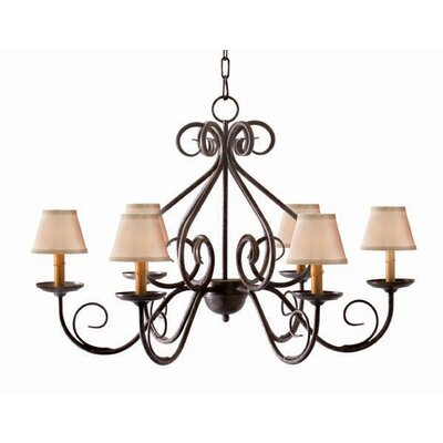 Jenna 6-Light Shaded Chandelier