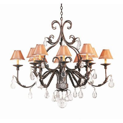 French Elegance 12-Light Shaded Chandelier