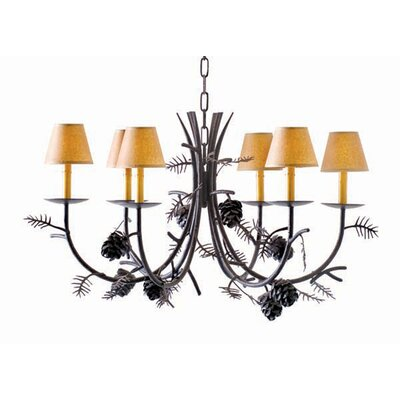 Pinecone 8-Light Shaded Chandelier