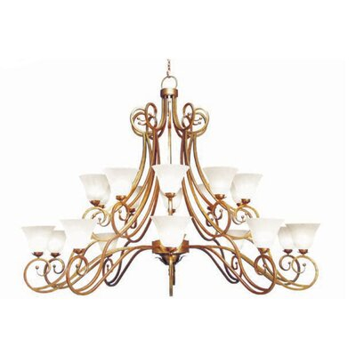 Angelo 20-Light Shaded Chandelier Finish: Pewter