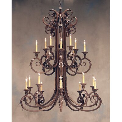 Serratina 20-Light Candle-Style Chandelier