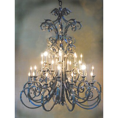 Serratina 32-Light Candle-Style Chandelier