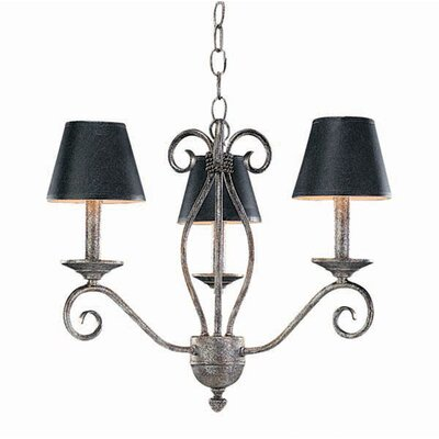 Sienna 3-Light Shaded Chandelier