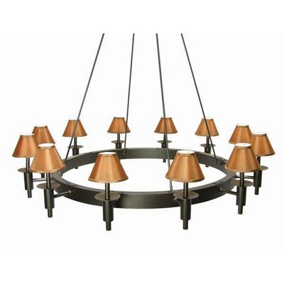 Calais 12-Light Shaded Chandelier