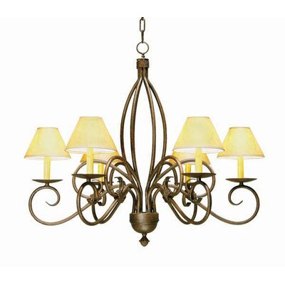 Squire 6-Light Shaded Chandelier