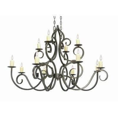 Clayton 12-Light Candle-Style Chandelier