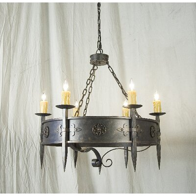Calandra 6-Light Candle-Style Chandelier