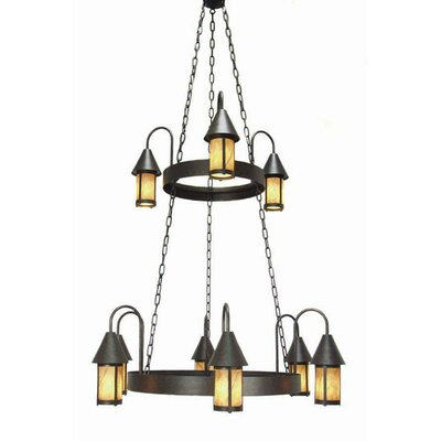 Algonquin 9-Light Shaded Chandelier Finish: Blackened Pewter