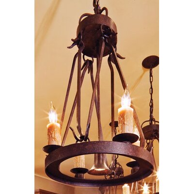 Lakeshore 5-Light Candle-Style Chandelier Finish: Organic Rust