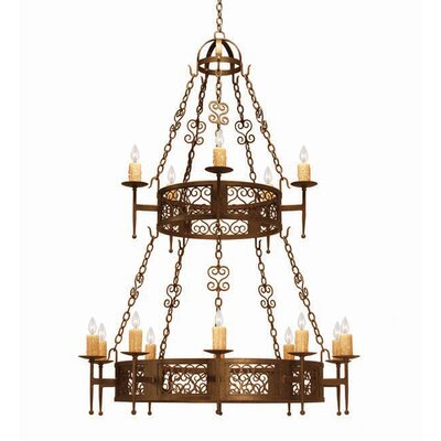 Toscano 15-Light Candle-Style Chandelier